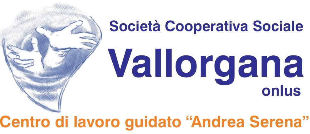 """Cooperativa Vallorgana e Centro di Lavoro Guidato """"A. Serena"""" per favorire la crescita e l'autonomia della persona disabile. Logo"""
